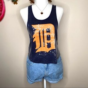 VS Pink sequin racerback Detroit tigers tank